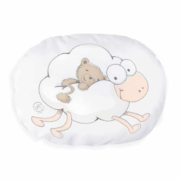 Coussin Fluffly le mouton nuage - Marque française d'ours en peluche et vêtements bébé - Une collection de cadeau de naissance unique