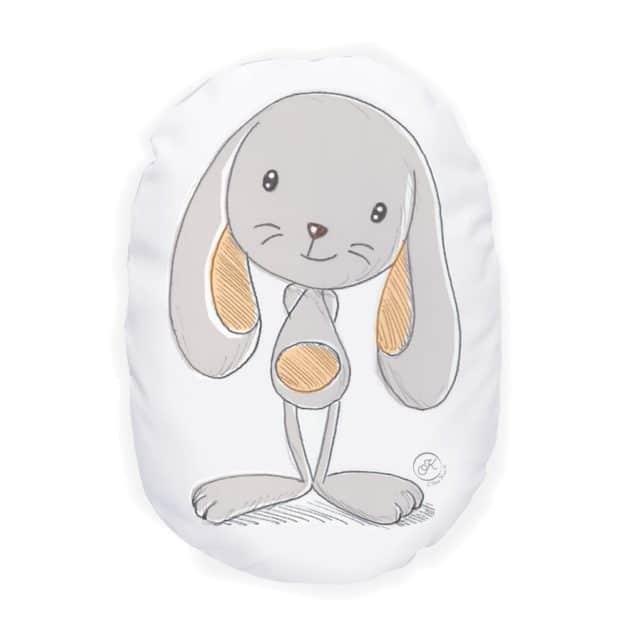 Coussin bébé Mandarine le lapin