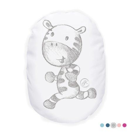 Coussin bébé Tamarin le petit zèbre - Marque française d'ours en peluche et vêtements bébé - Une collection de cadeau de naissance unique - L'Ours Kiwi