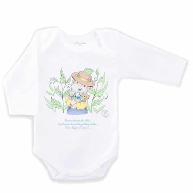 Body de naissance - Marque française d'ours en peluche et vêtements bébé - Une collection de cadeau de naissance unique - L'Ours Kiwi