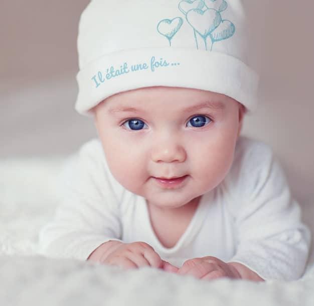 Bonnet de naissance - Marque française d'ours en peluche et vêtements bébé - Une collection de cadeau de naissance unique - L'Ours Kiwi