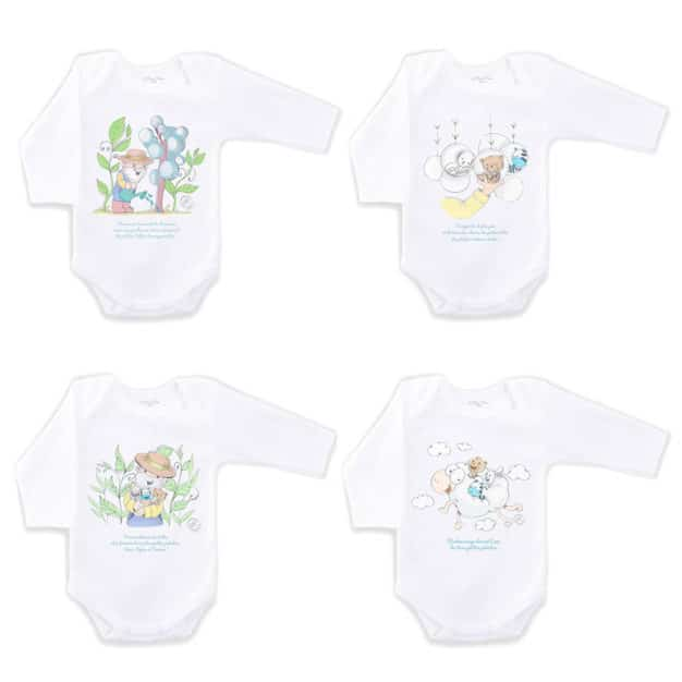Bodies de naissance pour bébé - Marque française d'ours en peluche et vêtements bébé - Une collection de cadeau de naissance unique - L'Ours Kiwi