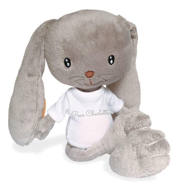 Peluche lapin - Marque française d'ours en peluche et vêtements bébé - Une collection de cadeau de naissance unique - L'Ours Kiwi