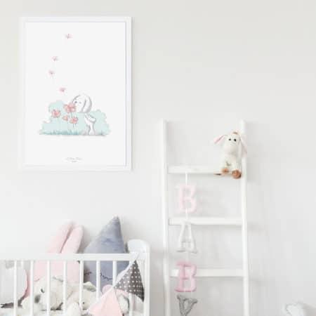 Tableau de naissance pour chambre de bébé - Marque française d'ours en peluche et vêtements bébé - Une collection de cadeau de naissance unique - L'Ours Kiwi