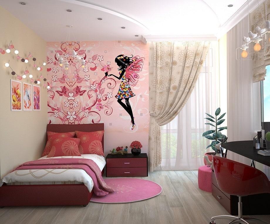 Décoration d'une chambre de fille