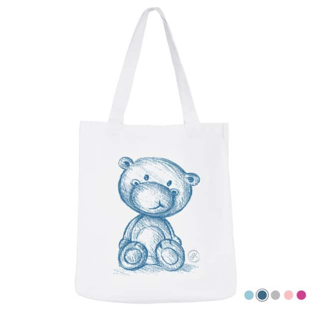 Tote bag naissance - Marque française d'ours en peluche et vêtements bébé - Une collection de cadeau de naissance unique - L'Ours Kiwi